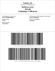 GS1128 Pallelabel